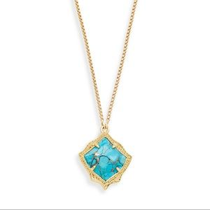 Kendra Scott kacey necklace turquoise gold